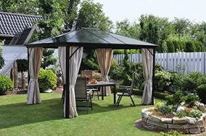 Metall pavillon mit festem dach