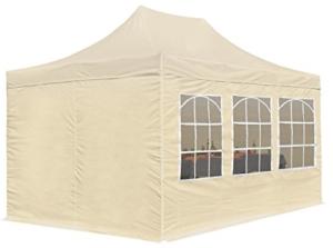 Partyzelt mit Seitenwänden Pop-up 3 x 4.5 m Gartenzelt Pavillon Faltzelt
