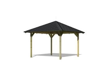 Karibu 4-Eck Pavillon Eco Cordoba Sparset inkl. Schindeln -